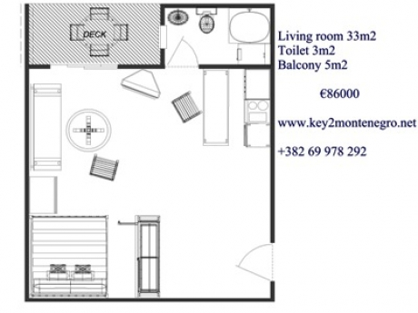 Baosici apartment floor plan 400x300 with text